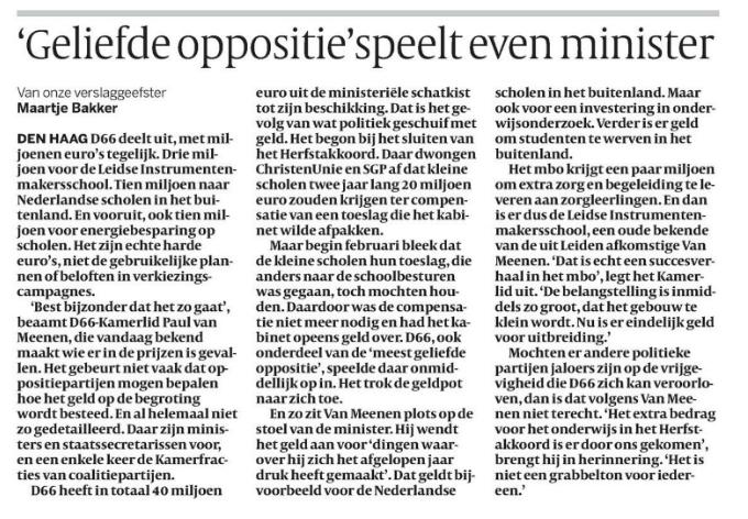Volkskrant 24 feb. 2014