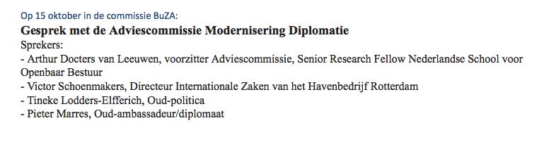 Gesprek adviescie Modernisering Diplomatie 15 okt a.s